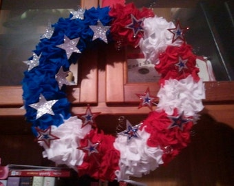 Felt Flag Wreath