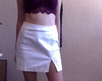 VINTAGE Off White Guess Jeans Mini Skirt