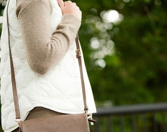 24hrSALE Monogrammed Taupe Palmer Crossbody - Gifts For Her Fall Accessories Fall Bags
