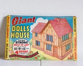 Giant Dolls House - Vintage cardboard - Unassembled and very fresh - Made in England