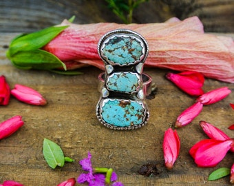 Turquoise ring, Statement Ring, Festival Jewelry, Rings, Boho Ring
