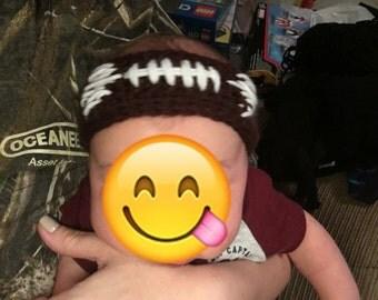 Handmade Crochet Football Headband