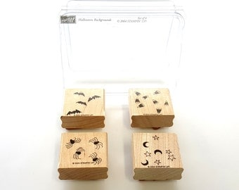 Halloween Backgrounds - Stampin' Up! Rubber Stamp Set