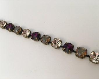 Swarovski crystal bracelet 8 mm Amethyst