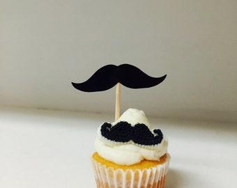 Mini mustache cupcakes a dozen 12 mini cups