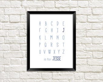 Personalised Name ABC Nursery Wall Art | Printable