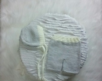 Newborn Baby Knit Outfit Photo Prop