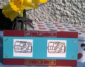 Handmade Greetings Card perfect for a budding Photographer
