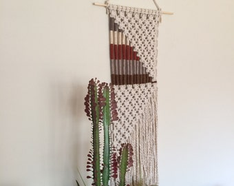 CUSTOM COLORS AVAILABLE Macrame Wall Hanging Natural Modern Boho Decor