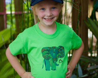 Colorful Ele  - Kid's Shirt