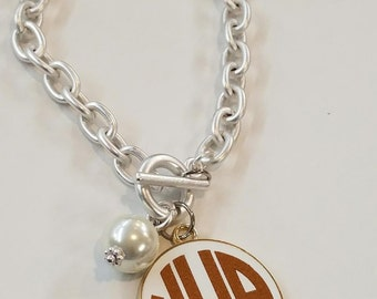Monogrammed Bracelet Silver tone