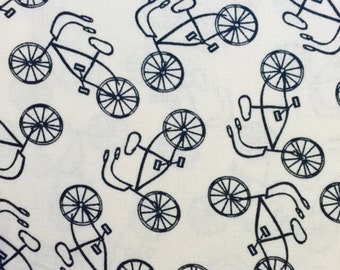 100% cotton Vintage Bicycle fabric 112cm wide.