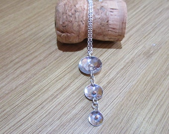Sterling silver, and 9 carat gold necklace