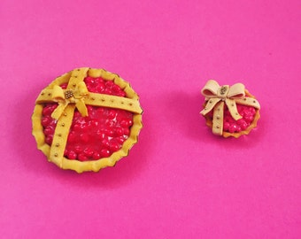 Miniature Dollhouse Cherry Pie