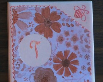 Monogrammed Tile Coasters 12. Blossom & Blissed series