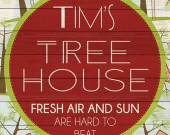 Custom Tree House Sign Digital Download