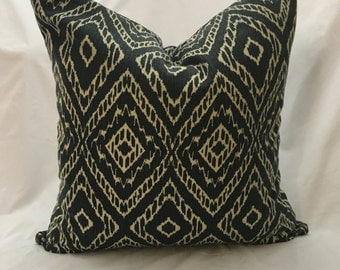 Navy Ikat Pillow Cover