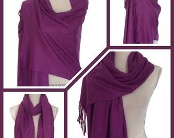 Purple Cashmere Blend  Wrap Pashmina Shawl Scarf Party Weddings Gift Idea