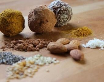 raw earth balls (vegan, gluten free, sugar free, organic)
