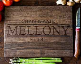 Personalized Cutting Board, Custom Engraved Cutting Board, Monogram, Wedding Gift, Anniversary, Bridal Shower Gift, Kitchen Decor #3104