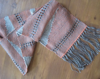 Open Weave and Geometry Scarf