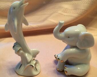 Set of 2 Lenox Animals