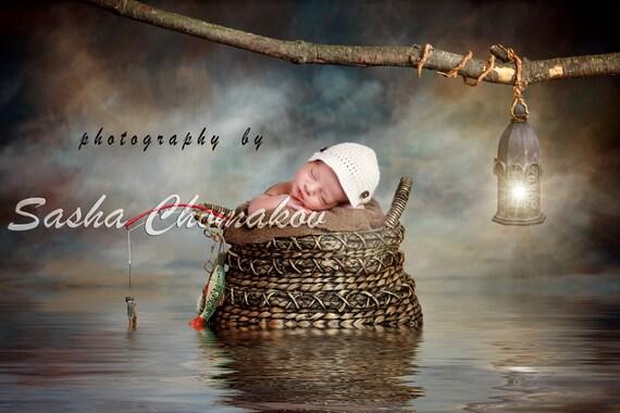 digital backdrop background gone fishing boys newborn