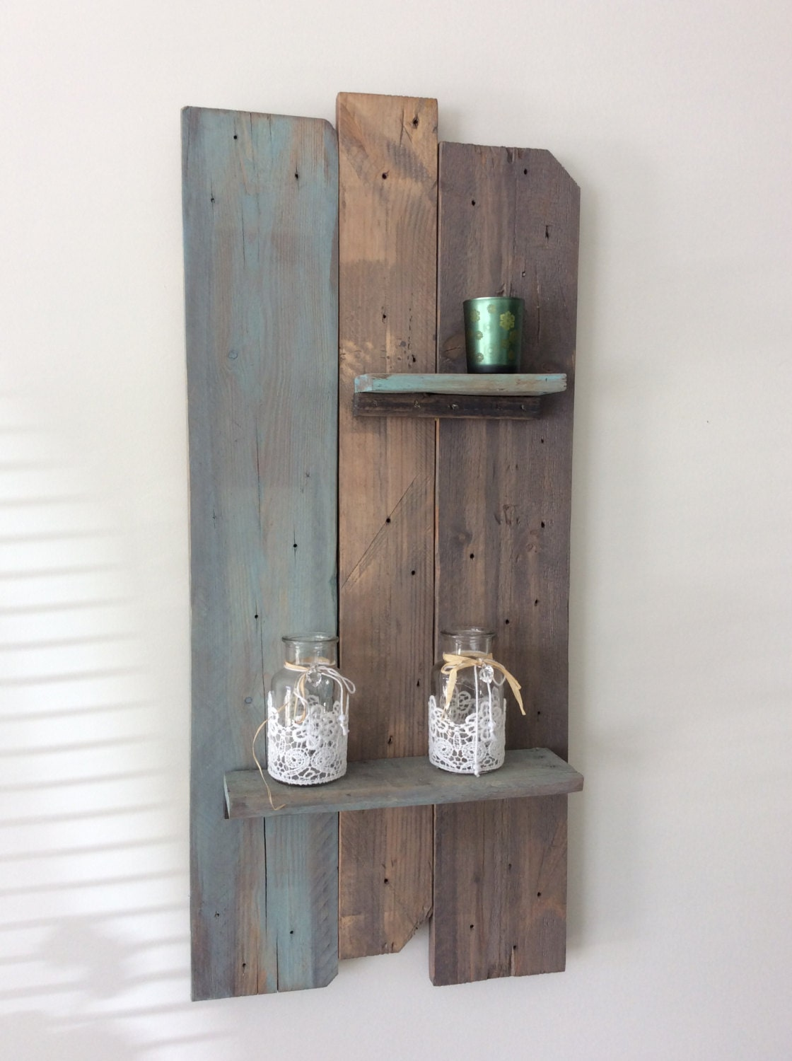 Solid reclaimed decorative wall shelf amipublicfo Gallery