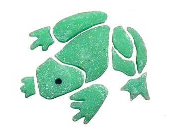 Medium Frog Mosaic - Glow in the Dark