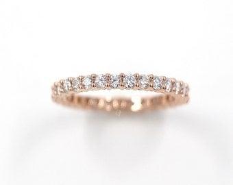 Diamond Wedding Band, Diamond Wedding Ring, Diamond Engagement Band, Diamond Engagement Ring, Full Eternity Diamond Ring