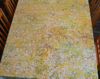 marbled tablecloth