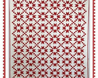 Red Prelude  #1304 by ThimbleCreek Quilts