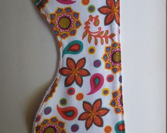 Paisley and flowers burp cloth
