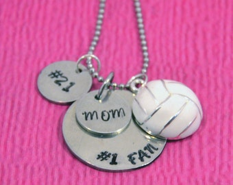 Volleyball Mom | Volleyball Mom Necklace | Gift for Mom | Mom Gifts | Mom from Son or Daughter | Volleyball Necklace | Volleyball Jewelry |