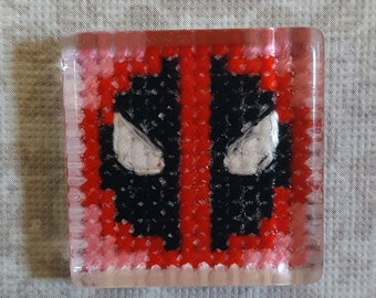 Deadpool Cross Stitch Magnet