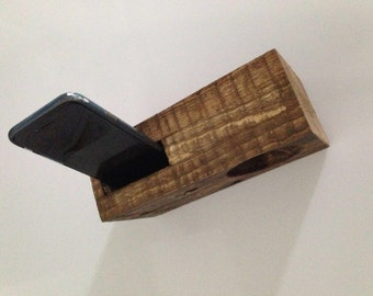 Recycled wooden iPhone dock Universal Dock