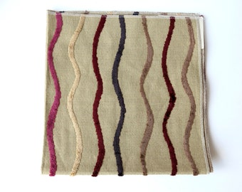 Upholstery Fabric Sample with Squiggle Pattern