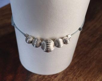 I 4 I Sterling Silver Beaded Bracelet
