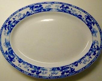 "Oval ""Royal Sometuke"" Nippon Platter"