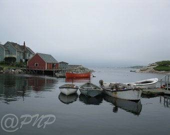 Fishing Village Photo, Fine Art Photography, Coastal Photo, Moored Fishing Boats, Peggy's Cove, NS, Nova Scotia, Wall Art, Home Decor, Gift