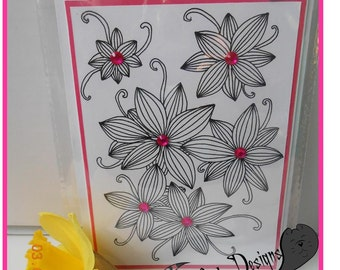 Hand Drawn, Greeting Card, Any Occasion, Hand Drawn, Flowers