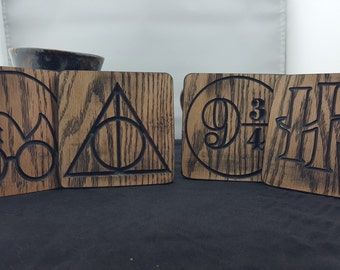 Set of 4 Harry Potter Coaster Set