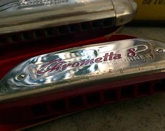 Harmonica vintage... Chrometta 8...