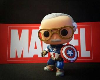 Stan Lee unmasked Captain America pop!