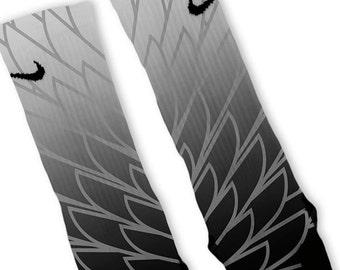 Custom Wings 2 Nike Elites Socks