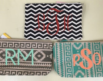Canvas Zipper Pouch; Customizable