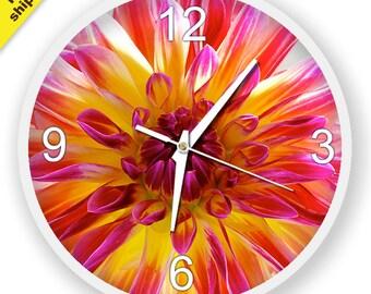 FloraI Wall Clock