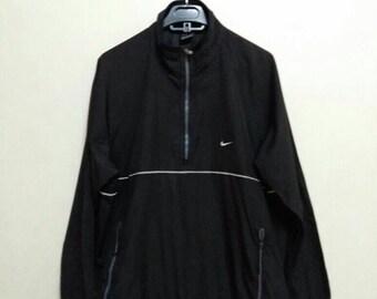 Vintage 90s Winbreaker Nike training half zip/black /Large