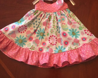 Handmade Sundress with Minnie for American Girl or other 18 Inch Dolls