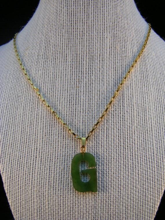 """Jade letter """"G"""""""